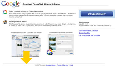 Picasa Web Albums Exporter for iPhoto