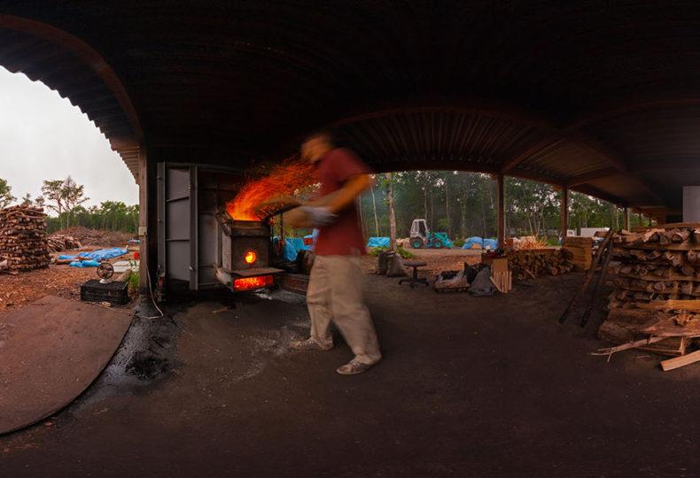 イコロの森の炭焼き小屋